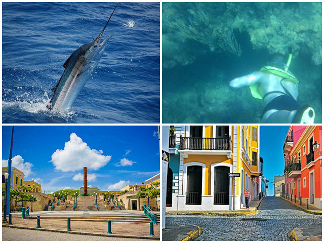 Have a spectacular fishing day from 7:00AM to 3:00PM in the West Coast of Puerto Rico, and Visit Old San Juan